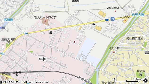 大分県中津市牛神50周辺の地図