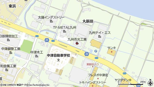 大分県中津市大新田344周辺の地図
