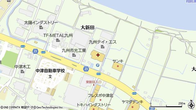 大分県中津市大新田306周辺の地図