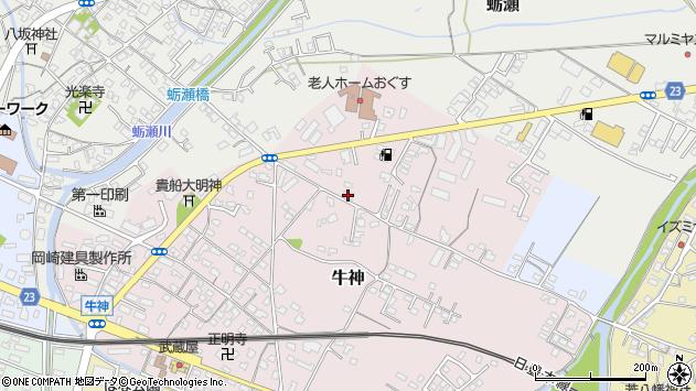 大分県中津市牛神77周辺の地図