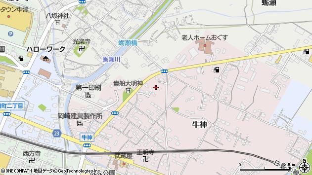 大分県中津市牛神101周辺の地図