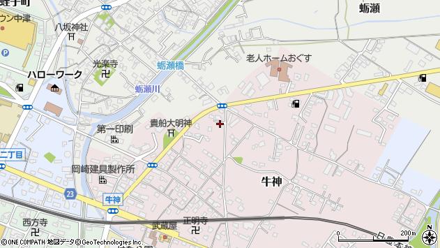 大分県中津市牛神89周辺の地図