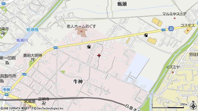 大分県中津市牛神38周辺の地図