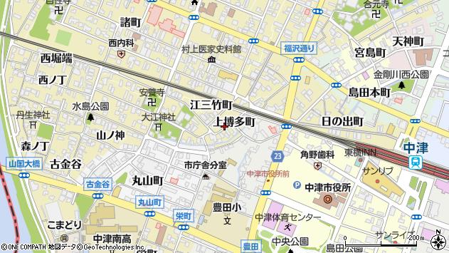 大分県中津市上博多町周辺の地図