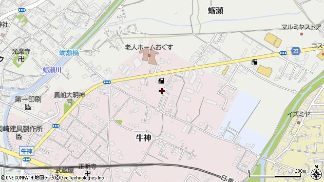 大分県中津市牛神74周辺の地図