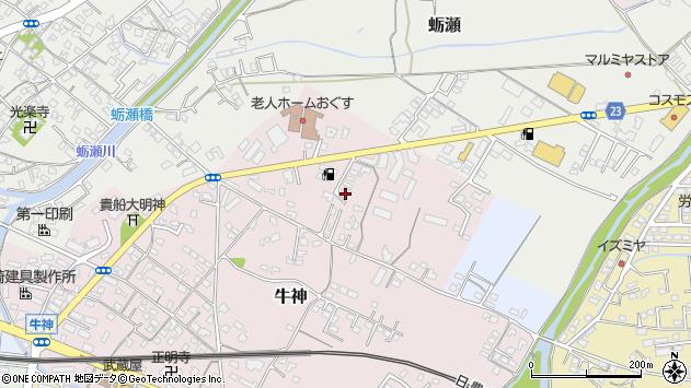 大分県中津市牛神27周辺の地図