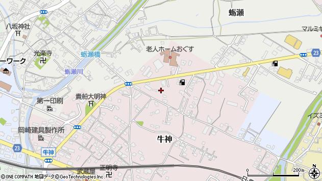 大分県中津市牛神78周辺の地図