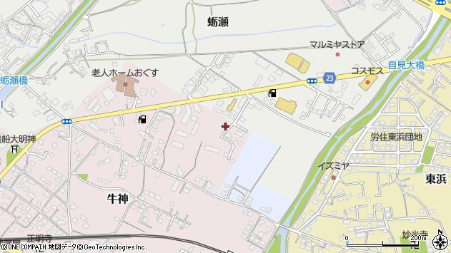 大分県中津市牛神43周辺の地図