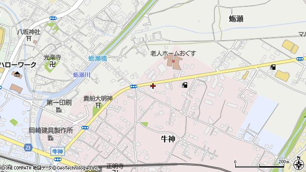 大分県中津市牛神11周辺の地図