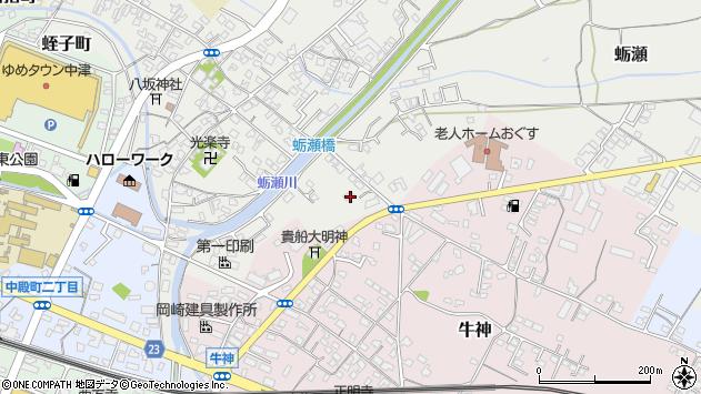 大分県中津市蛎瀬778周辺の地図