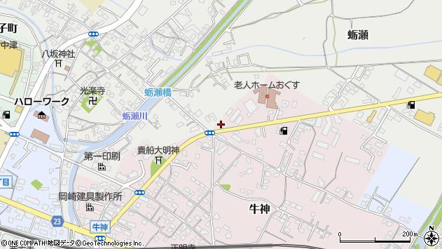 大分県中津市牛神84周辺の地図