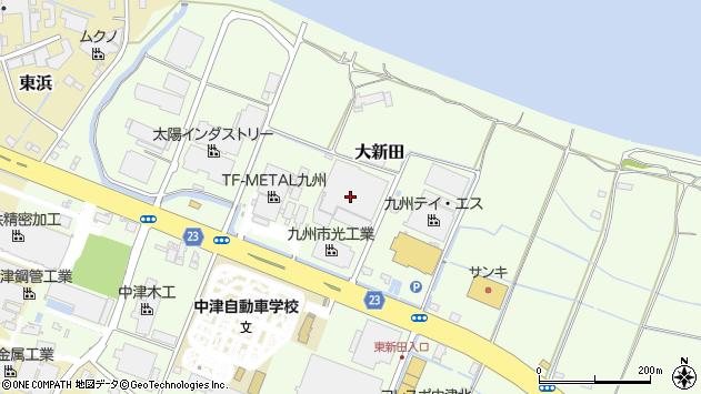 大分県中津市大新田348周辺の地図