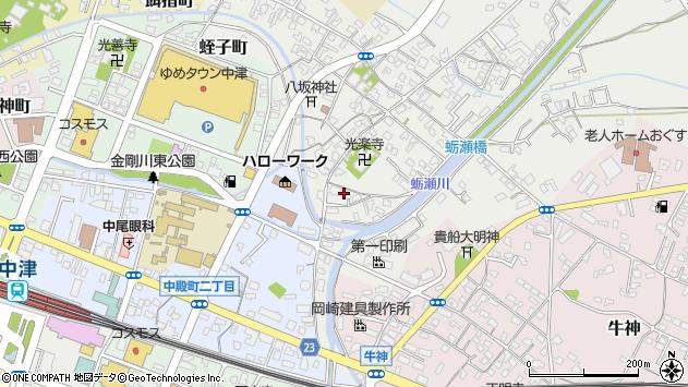 大分県中津市蛎瀬717周辺の地図