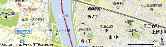 大分県中津市金谷上ノ丁周辺の地図