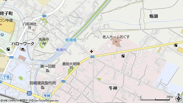 大分県中津市蛎瀬779周辺の地図