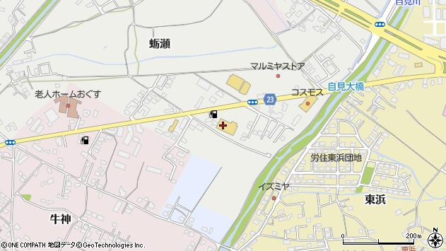 大分県中津市蛎瀬832周辺の地図