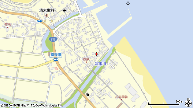 大分県国東市国東町富来浦2564周辺の地図