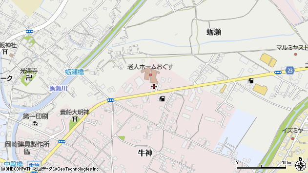 大分県中津市牛神17周辺の地図