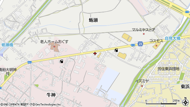 大分県中津市蛎瀬815周辺の地図