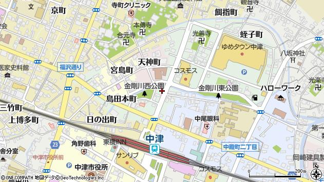 大分県中津市蛭子町1丁目周辺の地図