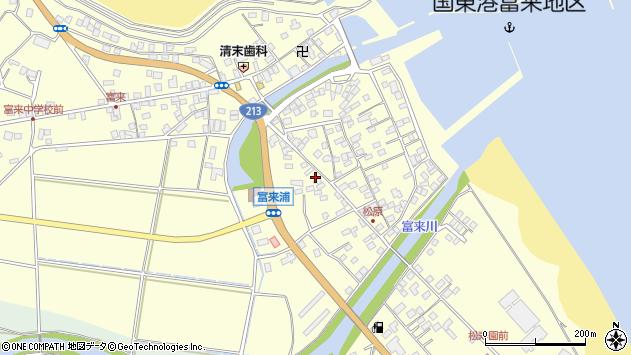 大分県国東市国東町富来浦2074周辺の地図
