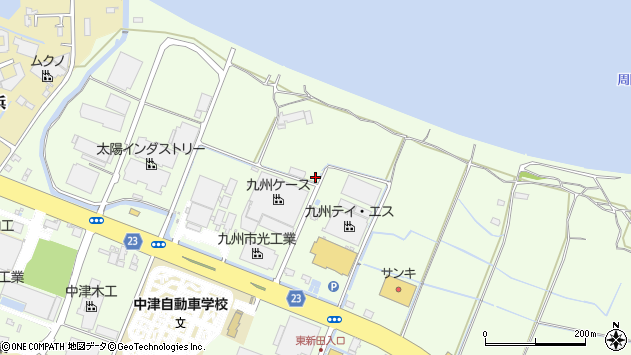 大分県中津市大新田343周辺の地図