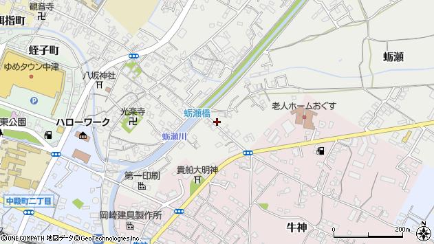 大分県中津市蛎瀬759周辺の地図