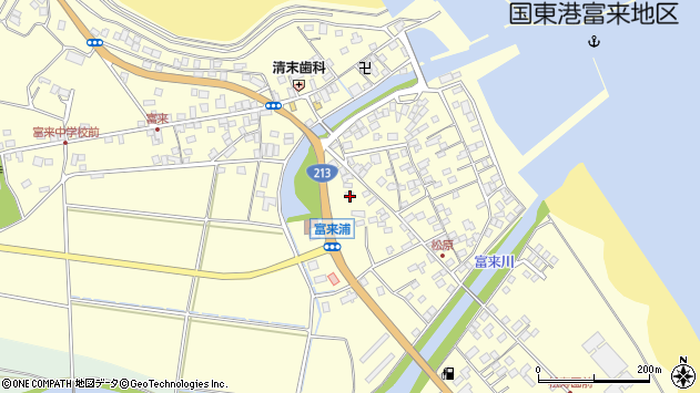大分県国東市国東町富来浦2082周辺の地図