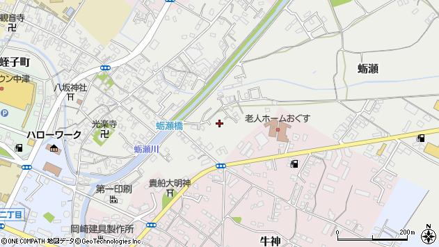 大分県中津市蛎瀬790周辺の地図
