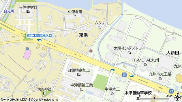 大分県中津市大新田1108周辺の地図