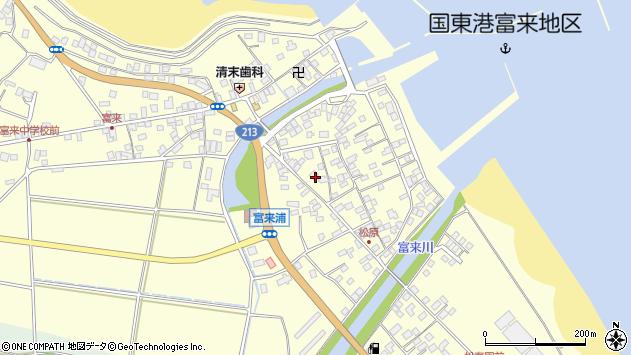 大分県国東市国東町富来浦周辺の地図