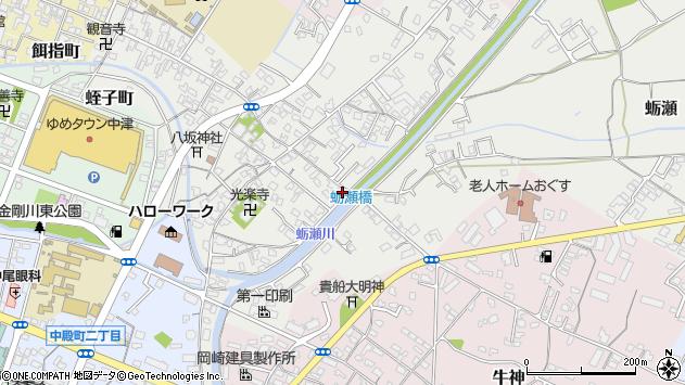 大分県中津市蛎瀬697周辺の地図