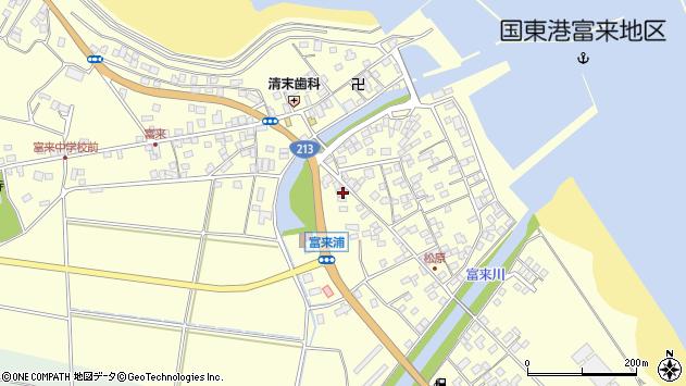 大分県国東市国東町富来浦2078周辺の地図
