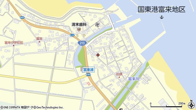 大分県国東市国東町富来浦2098周辺の地図