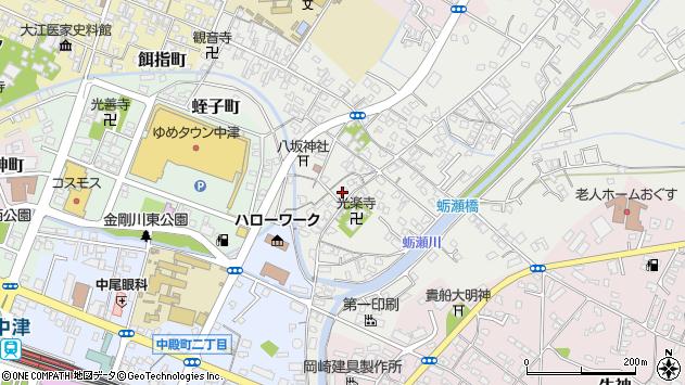 大分県中津市蛎瀬351周辺の地図