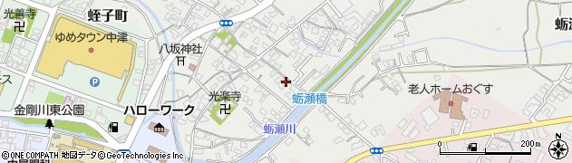 大分県中津市蛎瀬695周辺の地図