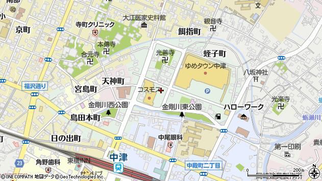 大分県中津市蛭子町2丁目周辺の地図