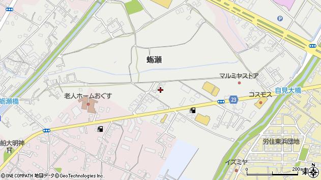 大分県中津市蛎瀬843周辺の地図