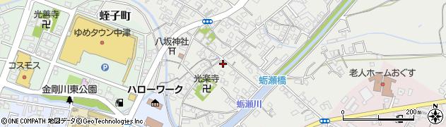 大分県中津市蛎瀬687周辺の地図