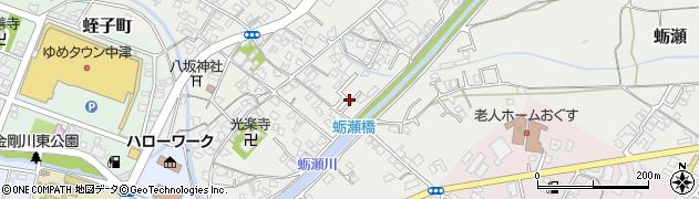 大分県中津市蛎瀬663周辺の地図