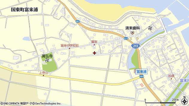 大分県国東市国東町富来浦1386周辺の地図