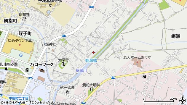 大分県中津市蛎瀬659周辺の地図