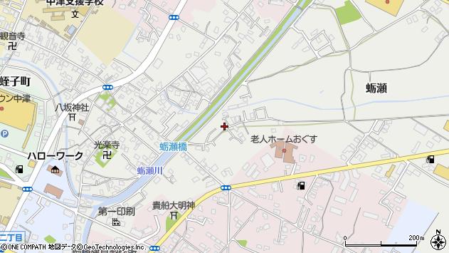 大分県中津市蛎瀬889周辺の地図