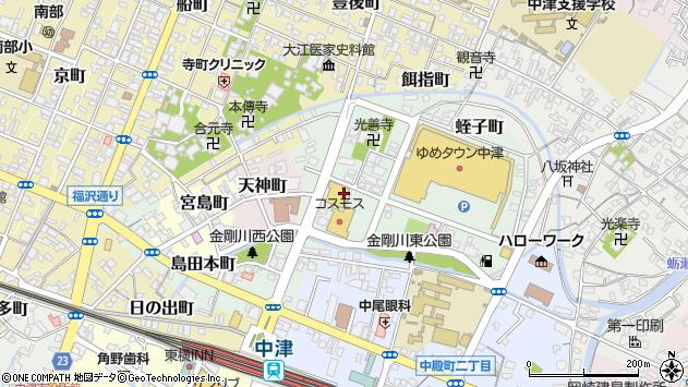 大分県中津市蛭子町周辺の地図