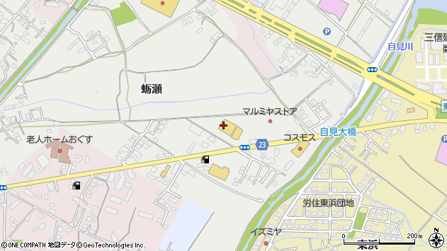 大分県中津市蛎瀬847周辺の地図