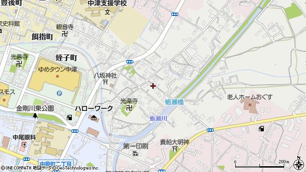 大分県中津市蛎瀬690周辺の地図