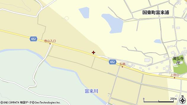 大分県国東市国東町富来386周辺の地図