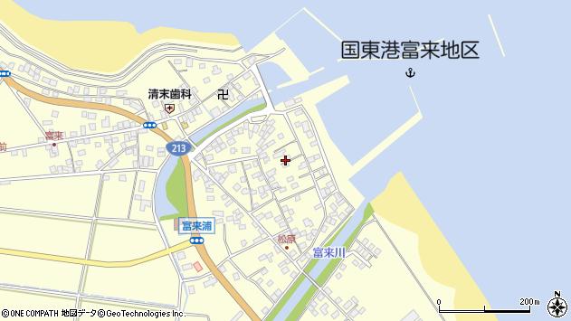 大分県国東市国東町富来浦2182周辺の地図