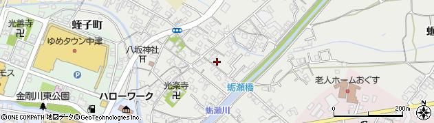 大分県中津市蛎瀬676周辺の地図