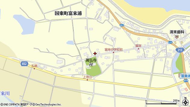 大分県国東市国東町富来浦209周辺の地図